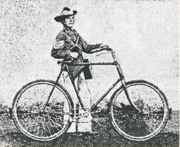 Warner Goodyear and his? bike