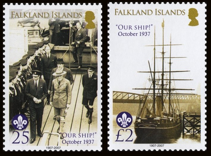 2007 Falkland Discovery Stamps