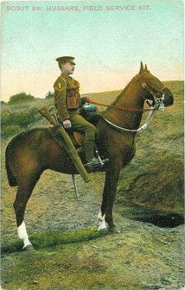 Army Scout on Horseback